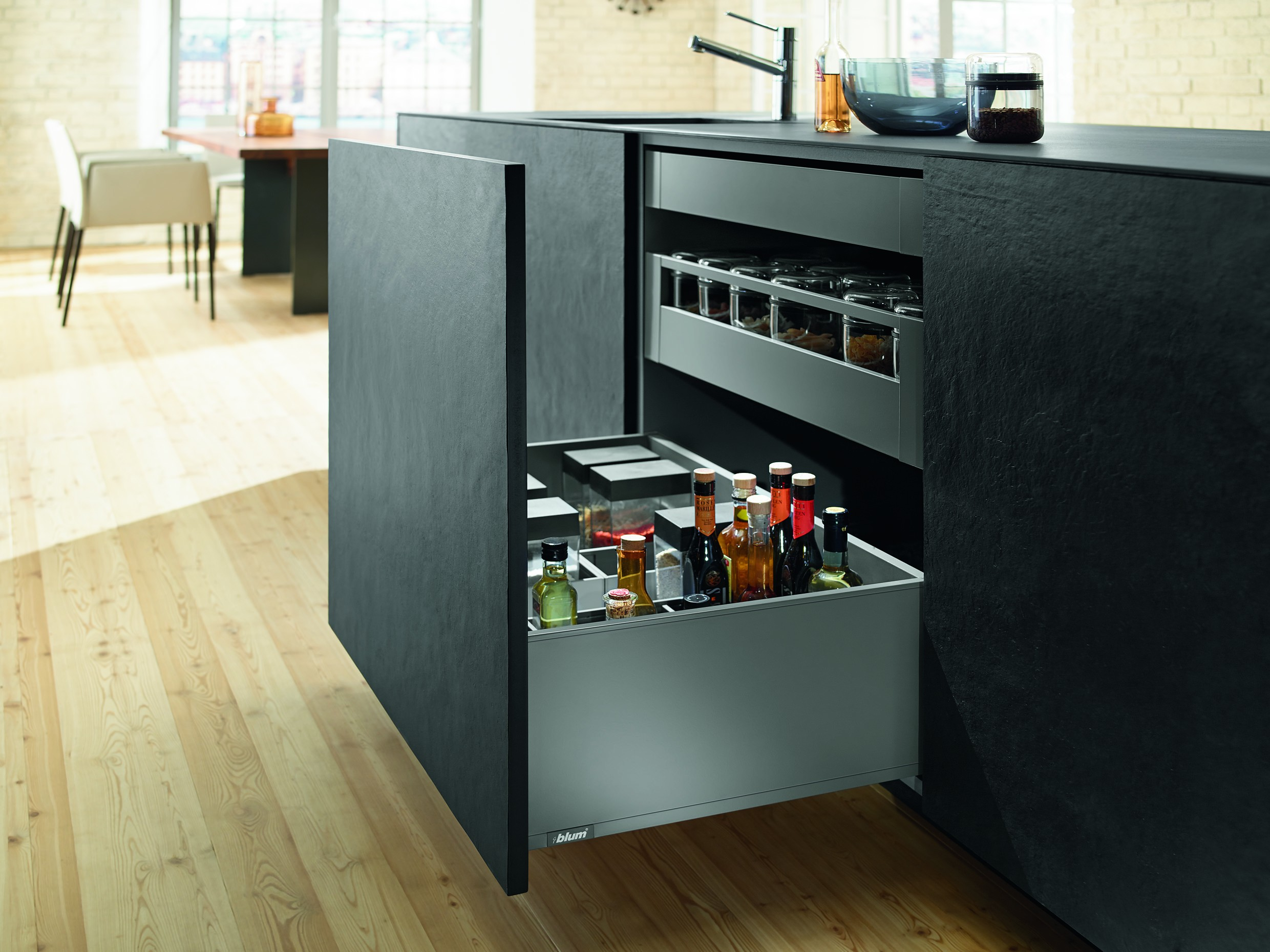 770F5002S - LEGRABOX pure : Extragere cu front inalt, inaltime F, lungime 500 mm