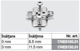 174E6100.01 - Placuta de montaj in cruce CLIP top BLUMOTION / CLIP top