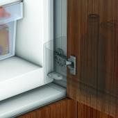 91K9550 + 194K6100E - Balama + placuta - pentru dulap cu frigider incorporat