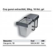 503.34.551 - Cos gunoi extractibil, 30kg, 16 L, gri